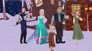 芭比公主 身穿蓝色高贵优雅 芭比公主新娘换装游戏