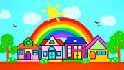 兒童畫畫,鉛筆描繪出的風景畫,就是一幅有意境的美好天地!