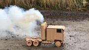 用廢棄紙箱做軍用戰斗坦克