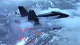 美军飞行员开大黄蜂战斗机到处装逼,结果被导弹击落,被迫跳伞