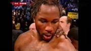 刘易斯下手最狠的一场比赛!一拳将拉曼打得吐血重夺拳王金腰带