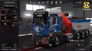 歐洲卡車模擬2:駕駛沃爾沃FH運送凱斯Steiger600型拖拉機