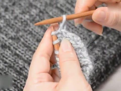 围巾花样编织教程 十字花织法