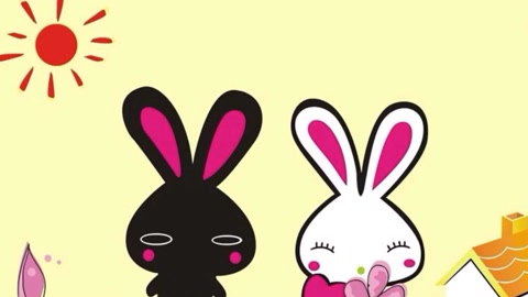 绘本故事 睡前故事 两只可爱的小兔子