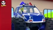 宝宝巴士怪兽警车 警车抓住了坏蛋 学颜色童谣 奇妙救援队动画片