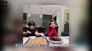 黄磊晒多多做蛋糕照片,13岁少女笑容满满,衣服着装却惹争议