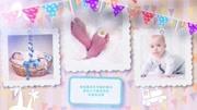 1346 小清新卡通风格可爱宝宝成长照片电子相册满月百日宴视频AE模板