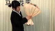 花藝插花視頻教程韓式花束 單支玫瑰花束包裝2