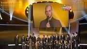 金球獎頒獎典禮C羅上臺領獎, 后面梅西的眼神亮了