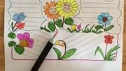 儿童画画,母亲节手抄报,快画给亲爱的妈妈吧~