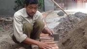 瓦工師傅這樣砌磚牛逼了,不但節約很多水泥效率也得到很高的提升