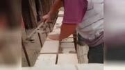 """德國發明""""砌磚神器"""",用它砌墻不浪費,5元造一個"""