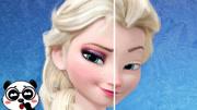 迪士尼兒童手工剪紙:雙胞胎和公主打扮成美人魚,誰最好看呢?