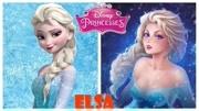 當迪士尼公主們變成日本畫風會怎樣?白雪公主已崩,安娜超可愛!