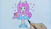 桔子姐姐趣味卡通涂色本 畫出七彩童年
