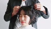 谁说大圆脸不适合短发,美女剪了这款短发之后,瞬间洋气多了