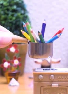 微型动画:彩色铅笔会制成什麼可爱小物件.