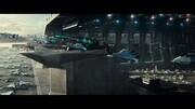 巨型外星飞船入侵地球!战舰比城市还要庞大,科幻电影《独立日》