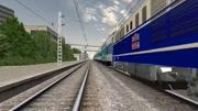 莫斯科開往北京的中俄國際列車 SS9G牽引K20次通過四平站