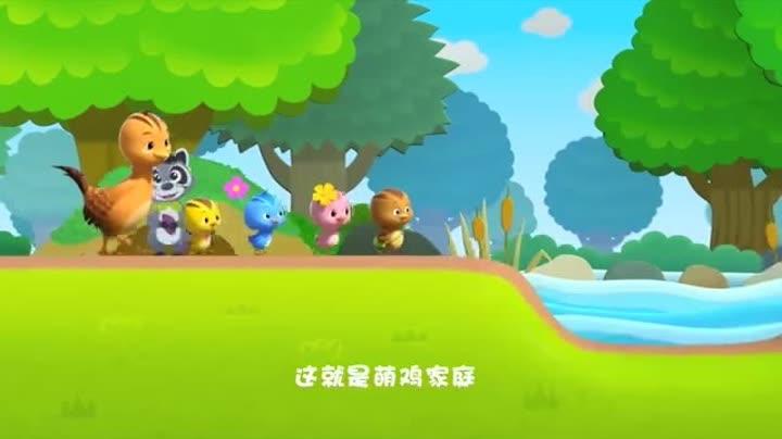 荷叶老鼠蹦蹦跳兔子和青蛙水粉图片