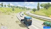 歐洲卡車模擬2:前方巴士和轎車相撞,冒起濃濃大煙