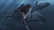 科學家發明巨大機械鯊魚,對付深海巨齒鯊,孰勝孰敗