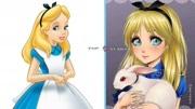 迪士尼公主的另一種畫風,每個都很驚艷!