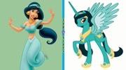 芭比娃娃玩具和迪士尼公主化妝、打扮