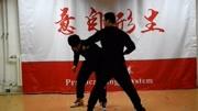 太極拳切磋老武術家PK散打壯漢,切磋打出武俠大片的感覺