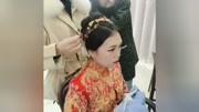 中式新娘盤發教程,唯美的秀禾服化妝盤發技巧
