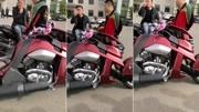 亚洲首辆黑色暴龙惊现北京!周董同款机车V-REX!CHOPPER