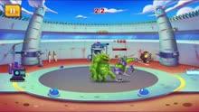新版怪物工艺02 合出激光机器人和石魔vs三头六臂怪物
