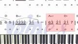 钢琴教学:电影战狼2推广曲《风去云不回》简谱教学3