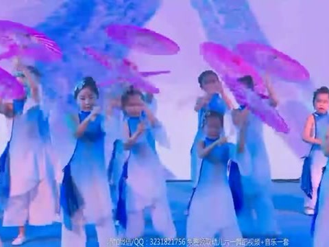 2018最新幼儿园女孩六一舞蹈《梦里花落》
