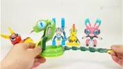 漢字12生肖變形機器人虎龍羊雞兔動物改造 驚喜日本玩具視頻兒童玩具 § 垣垣玩具
