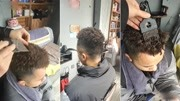 日本姑娘受損發質考驗零零后發型師、上來直接剪短燙滿頭傻了!