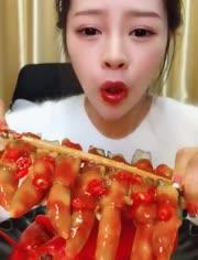 大胃王吃播 吃澳洲大龙虾