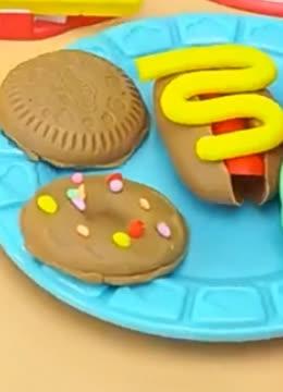 橡皮泥玩具视讯培乐多彩泥手工做彩色的冰棍