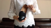 嘉力奴真皮布洛克雕花单鞋经典英伦风女鞋中跟粗跟圆头浅口鞋秋季