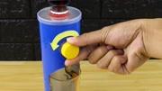 薯片罐废物利用,自制可乐饮水机,真是脑洞大开