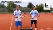 [TennisLesson]如何对付强烈上旋球与下旋切削球|中文字幕|Top Tennis Training