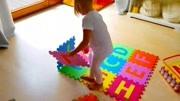 益智儿童玩具!小萝莉泡沫爬爬垫拼接小屋子