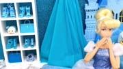 芭比公主的天蓝色卧室,鞋柜和床也太好看了!
