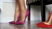 美女穿18cm细跟高跟鞋,完美修饰美腿线条,魅力大长腿超性感