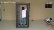 LW14拆分式网络服务器机柜安装演示