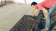 20年经验的师傅贴瓷砖,两人一天能贴80平米,瓷砖没有一个空的!