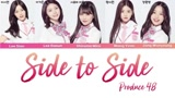 Produce48 Dance组 Side to side