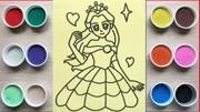儿童玩具 上色沙画 美丽的公主