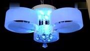 3头亚克力吸顶灯时尚LED 灯温馨卧室灯