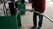 制作护栏围栏斜弧口是关键,用冲弧机就能轻松搞定